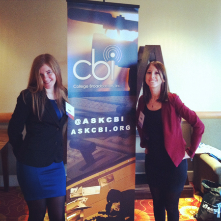 Ellen Hardy (left) and Alyssa Sansone (right) at the CBI conference in Seattle last October.